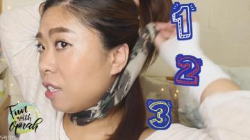 扎马尾怎么带发带 怎么用发带扎马尾